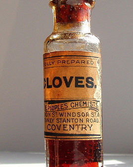 old fashioned bottle of clove oil