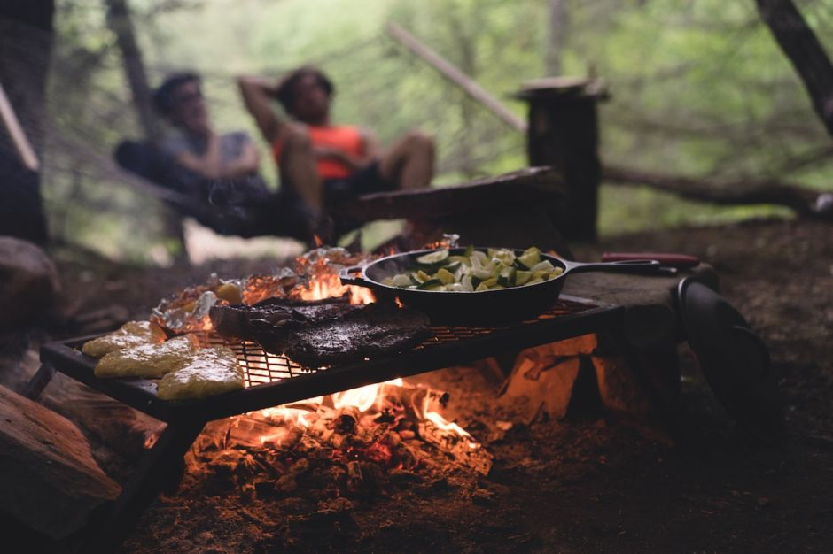 Cooking in nature camping