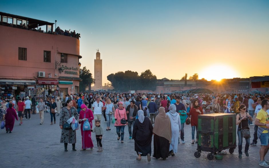 Marrakech street crowd