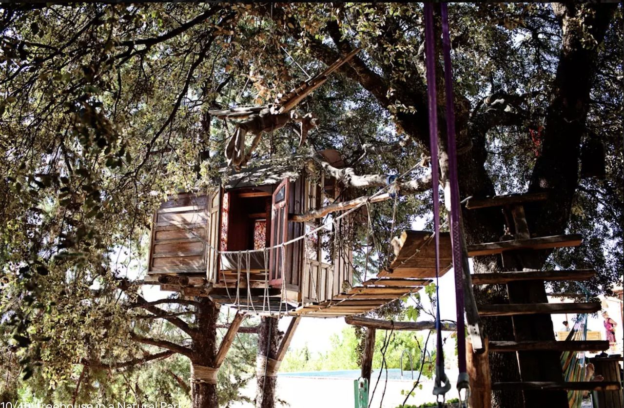 Treehouse in a nature park